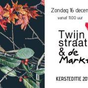 Kerstmarkt Twijnstraat op zondag 16 december 2018, Kortjakje is open!